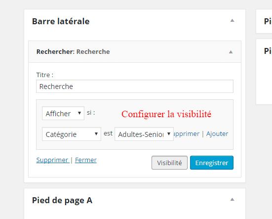 Widget Visibility ou comment contrôlez sur quelles pages vos widgets apparaissent